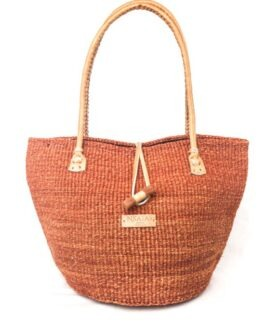 Mud Padded Handle Sisal Handbag