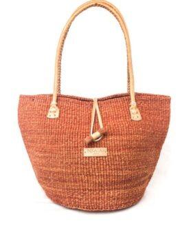 Mud Padded Handle Sisal Handbag