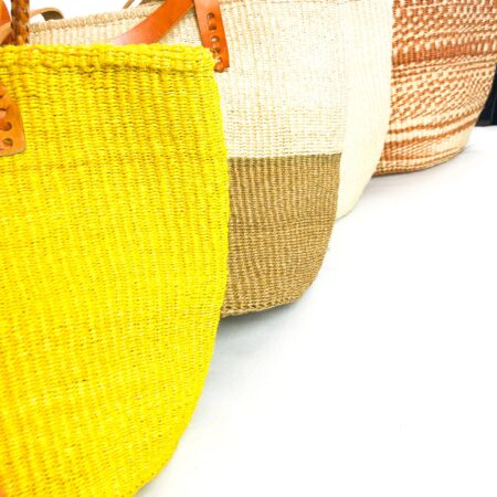 Yellow Sisal Handmade Shopping Bag