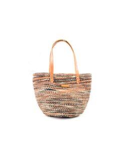 Brown and Black Mix Sisal Handbag