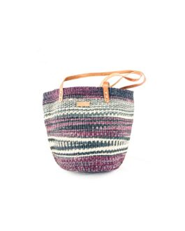 Purple and White Mix Shopping  Bag