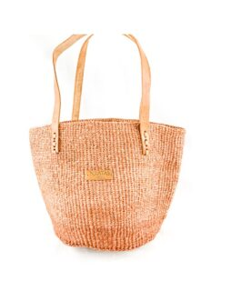 Brown Sisal Shopping Bag