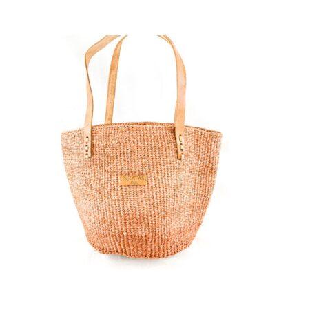Brown Sisal Shopping Bag