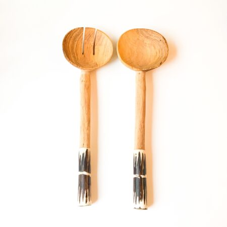 Olive Zebra Wooden Spoon Servers