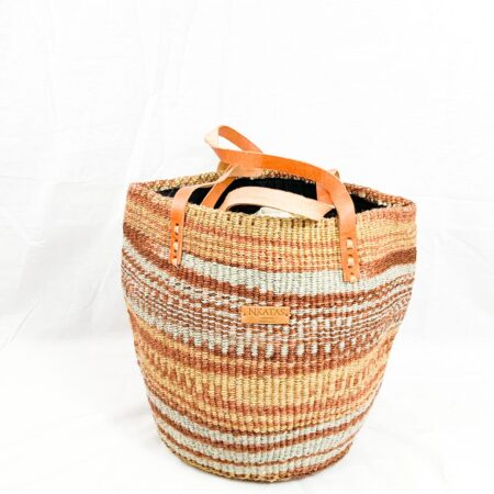 Brown and Turquoise Shopping bag