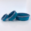 Blue Set of Three Mini Baskets