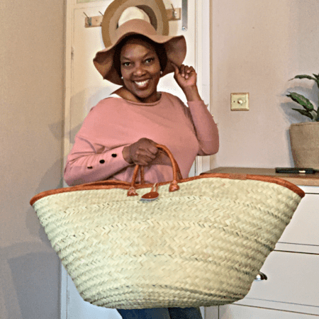 Palm Leaf Extra Large Tote Basket