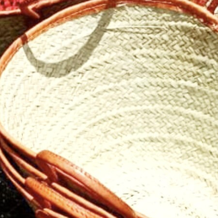 Palm leaf Shopping Large Tote Baskets